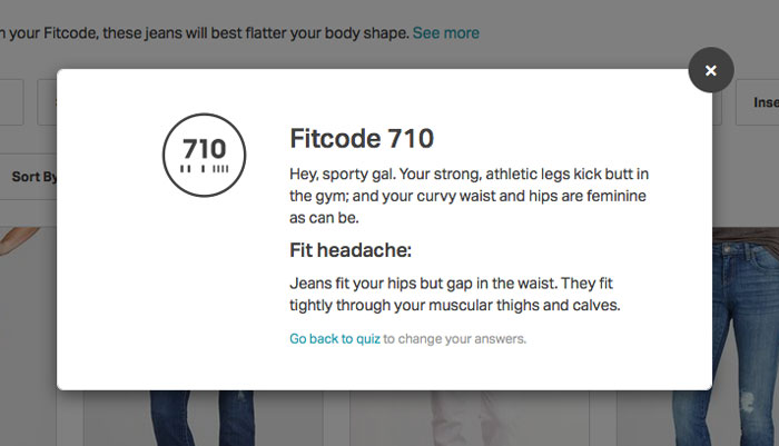 Finding My Fit with Fitcode - Quiz Result