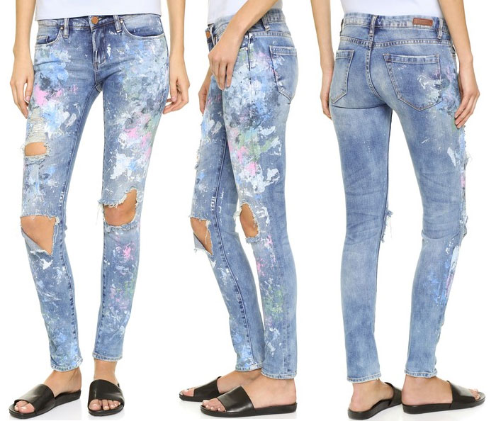 Charitable Hand Painted Denim by Rialto Jean Project - BLANKNYC