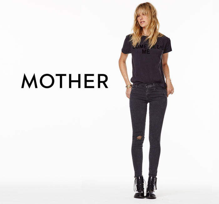 Elegant Dark Denim from The Black Sheep Story by MOTHER
