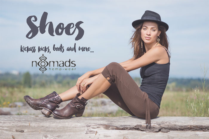 New Handmade Leather Boots at Nomad's Hemp Wear