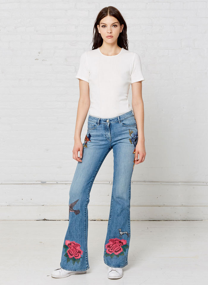 Patched and Embroidered Denim for Fall - 3x1