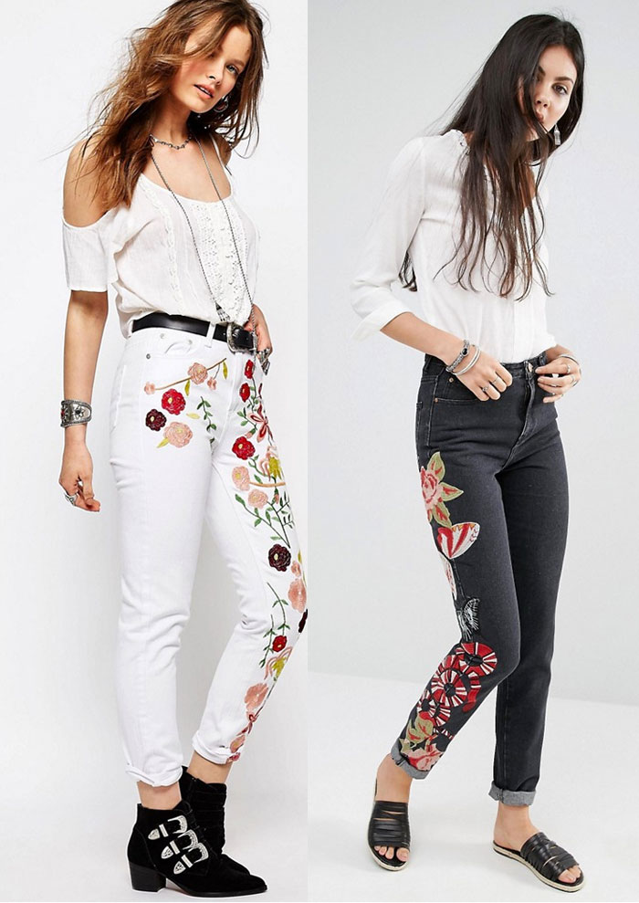 Patched and Embroidered Denim for Fall - Asos
