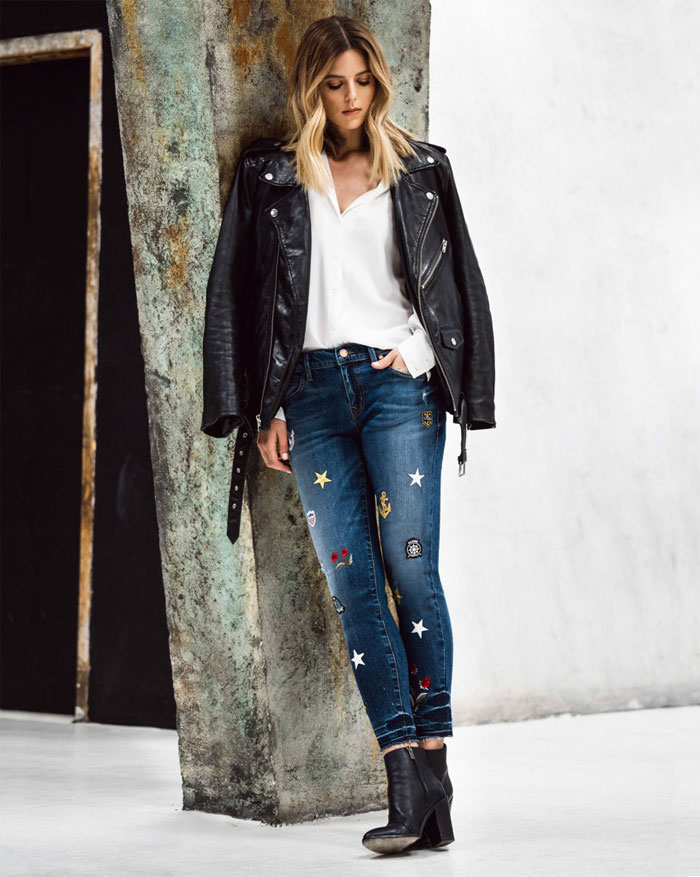 Patched and Embroidered Denim for Fall - Level 99 Amber Slouchy in Point Dume