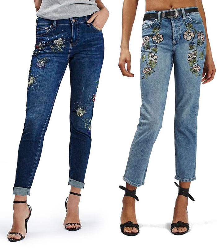 Patched and Embroidered Denim for Fall - Topshop