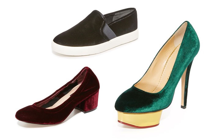 Velvet is the Fabric for Fall - Shoes
