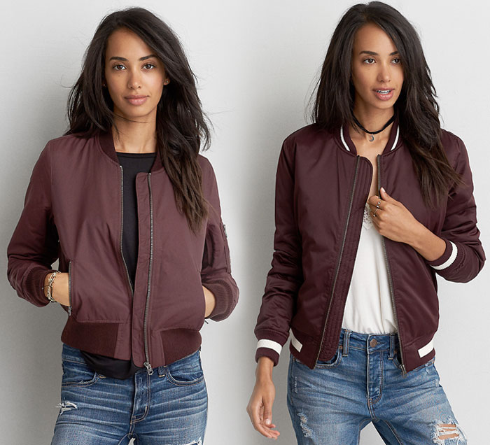New Bomber Jackets for Fall at American Eagle Outfitters - Bombers