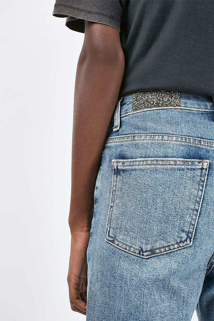 Limited Edition Glitter Jeans at Topshop - Straight Leg Pocket