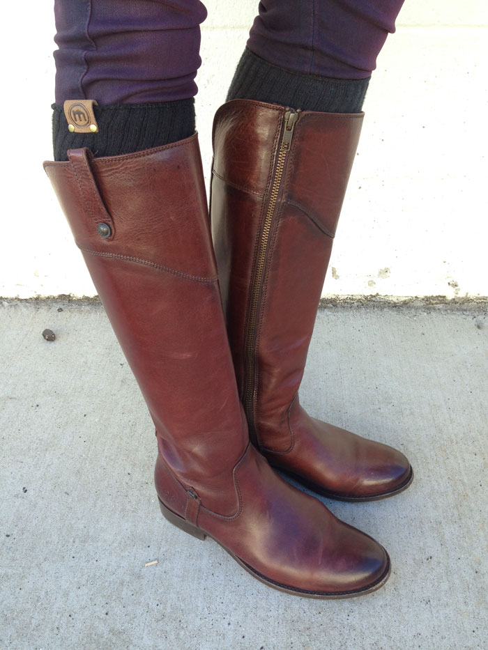My New Frye Melissa Tab Riding Boots - Sides Close