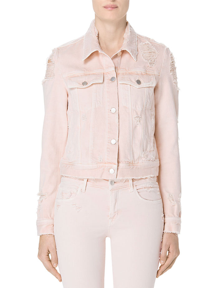 Pretty in Pink Destroyed Denim at J Brand - Harlow Jacket