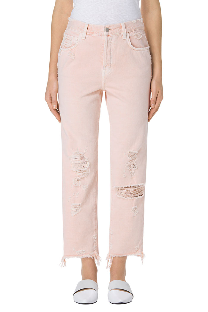 Pretty in Pink Destroyed Denim at J Brand - Ivy Crop
