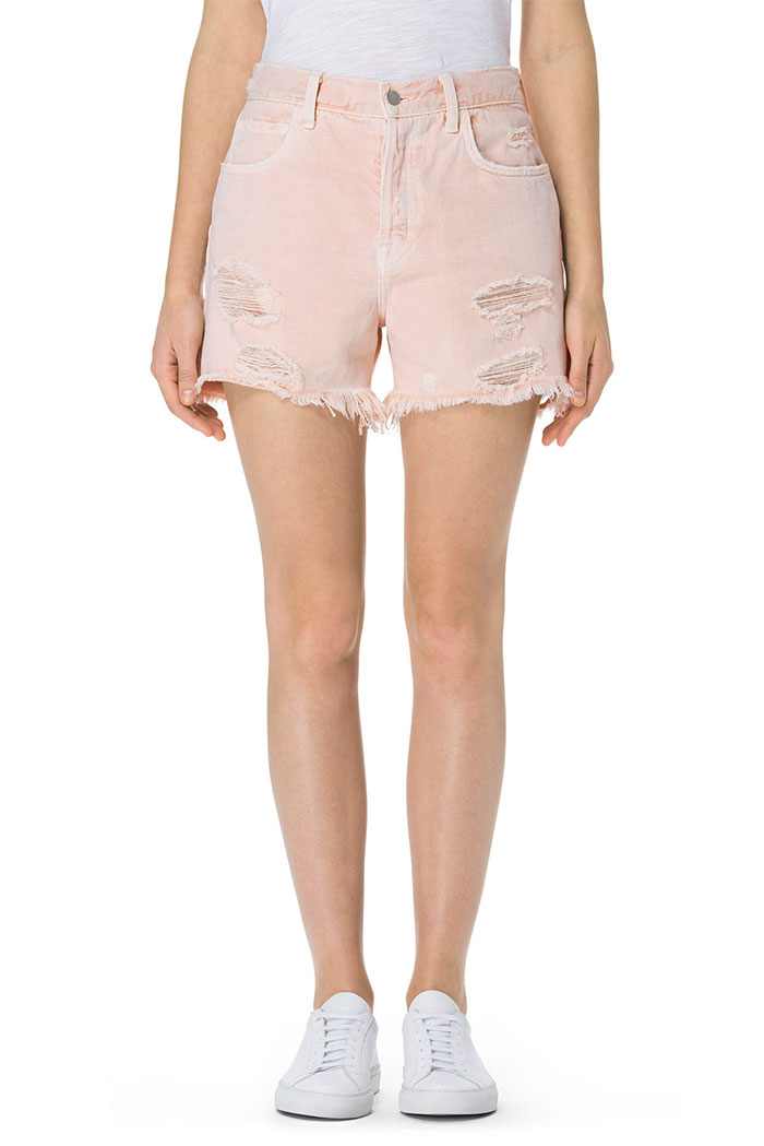 Pretty in Pink Destroyed Denim at J Brand - Ivy Short