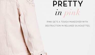 Pretty in Pink Destroyed Denim at J Brand