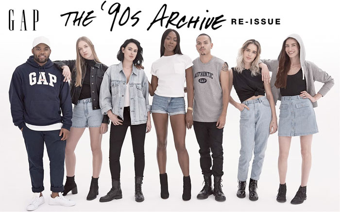 GAP Brings Back the '90s with Limited Edition Pieces