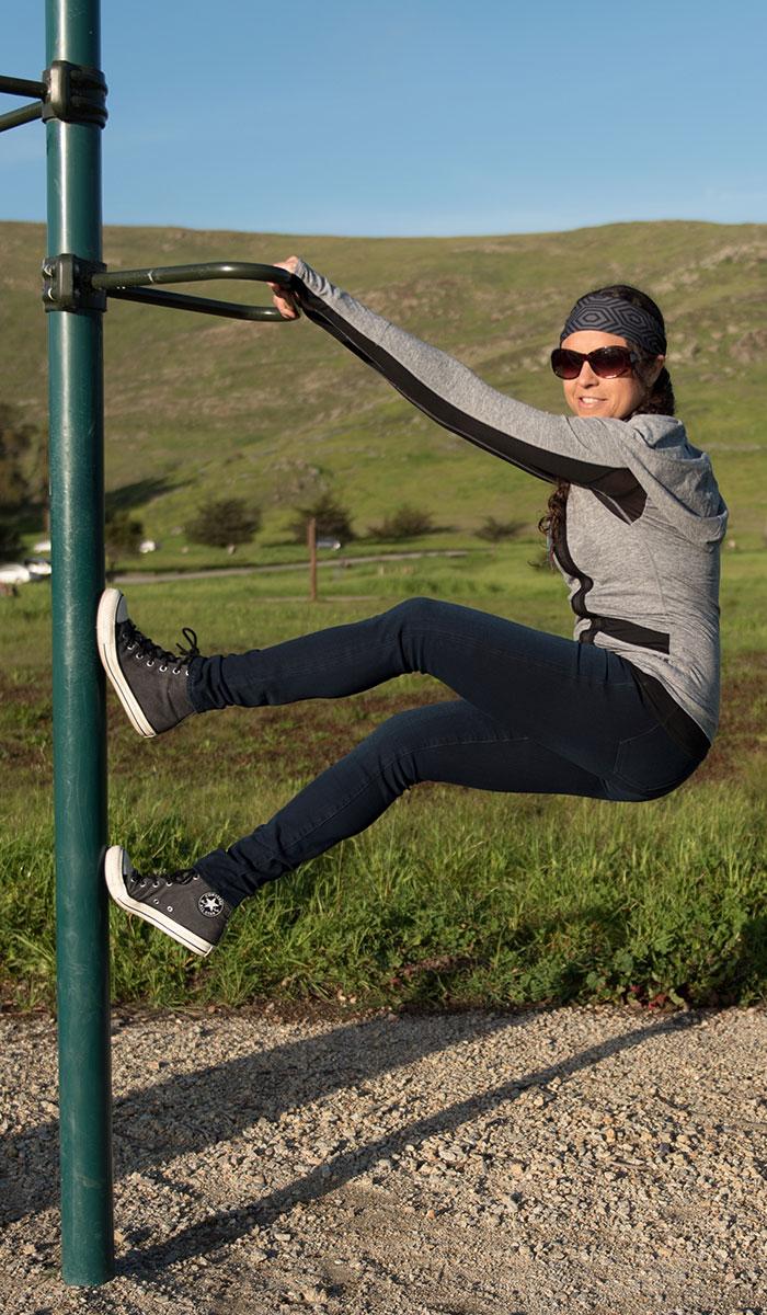 Mavi Adriana Indigo Move Super Skinny in Deep Bi-Str Review - Hanging on Bars