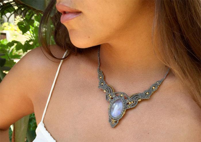 Currently Craving: Gemstone Macrame Necklaces