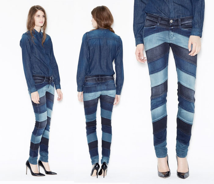 Closed Denim - Pedal Star Patchwork Denim Pants