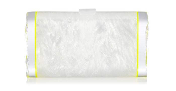 Edie Parker Lara textured-acrylic box clutch