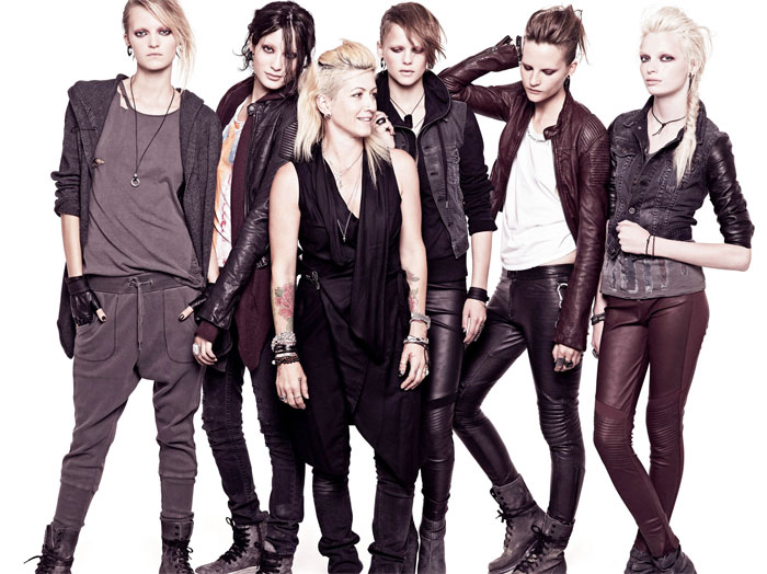 Trish Summerville with her H&M designs for The Girl With the Dragon Tattoo.