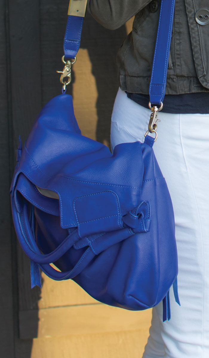 Foley & Corinna Mid City Tote in Cobalt - Detail View