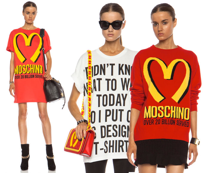 Moschino and the Golden Arches