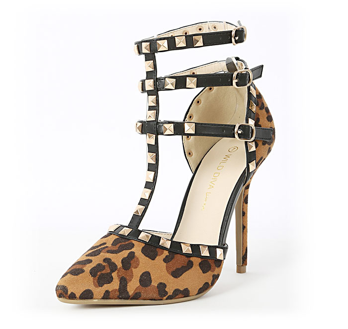 The Rockstud Pump by Valentino - Wild Diva Leopard