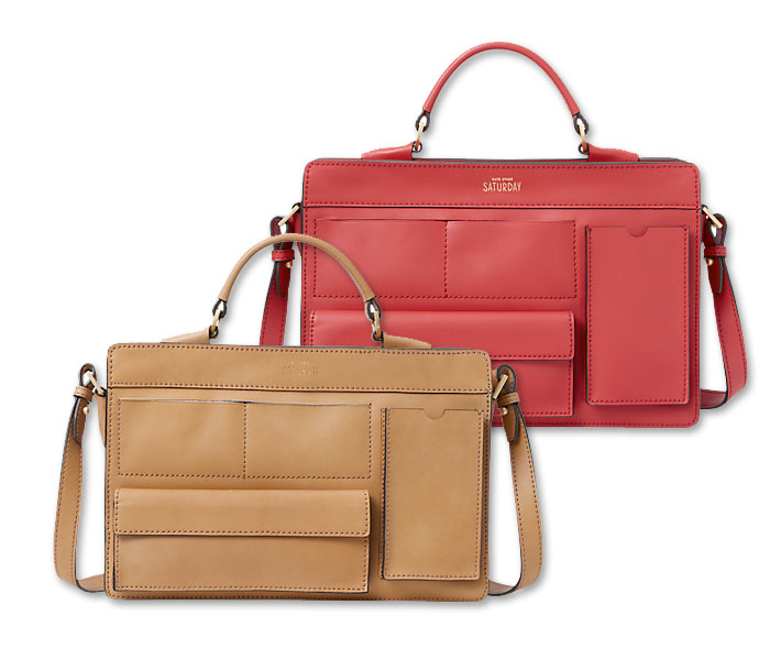 Basic and Functional Leather Bags - Kate Spade Inside Out Pocket Satchel