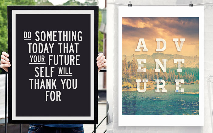 Motivational Typography for Your Walls