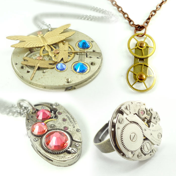 Steampunk Jewelry by Tangled Metal