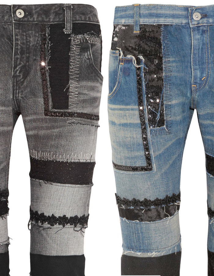 Patchwork Designs by Junya Watanabe - Jeans Closeup