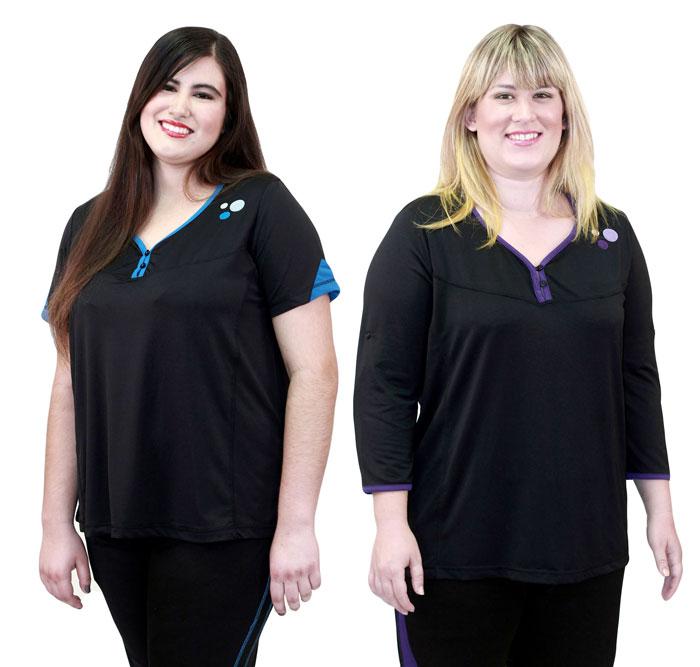 Replaceable Plus Size Workout Apparel by Fit-Labs - Tops
