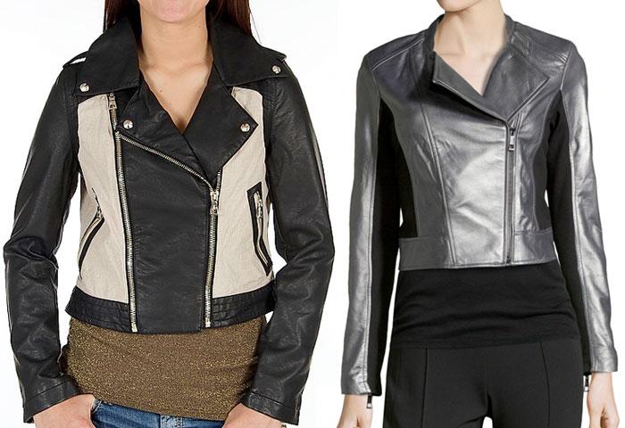 Colorblocked Moto Jackets