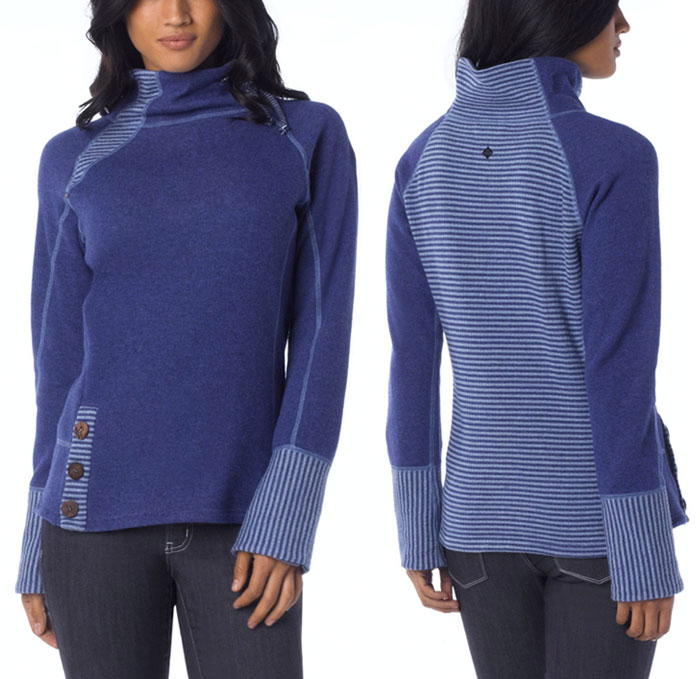 The prAna Lucia Sweater - Blue Twilight