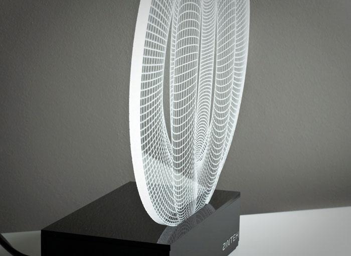 Trippy 3D LED Lamps by Zinteh - Decadent Dissonance