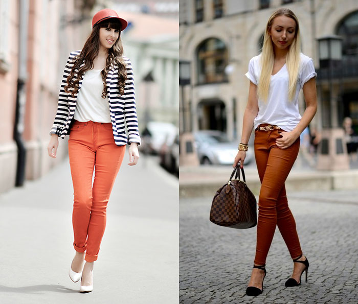 Orange Denim for Thanksgiving - Festy In Style and Trendique