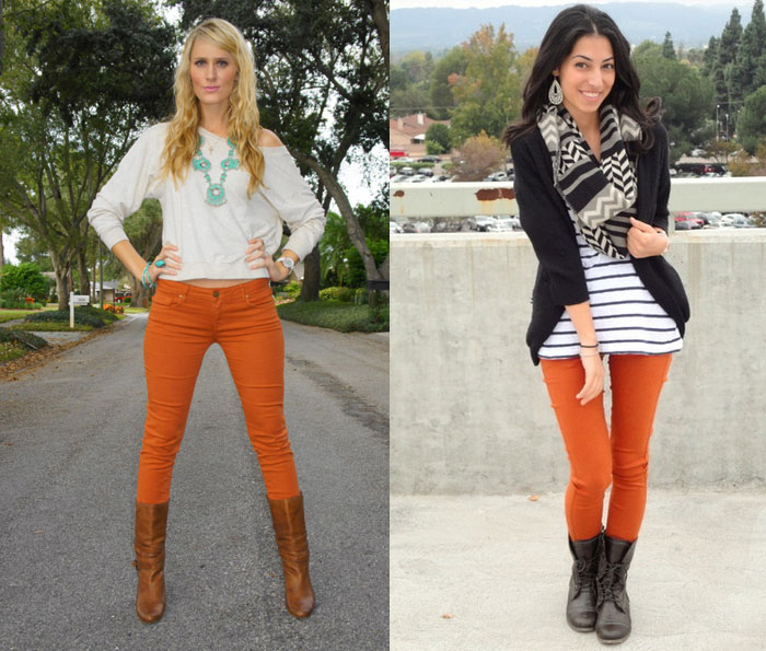Orange Denim for Thanksgiving - Jen from Denimology and Dreaming In Francais