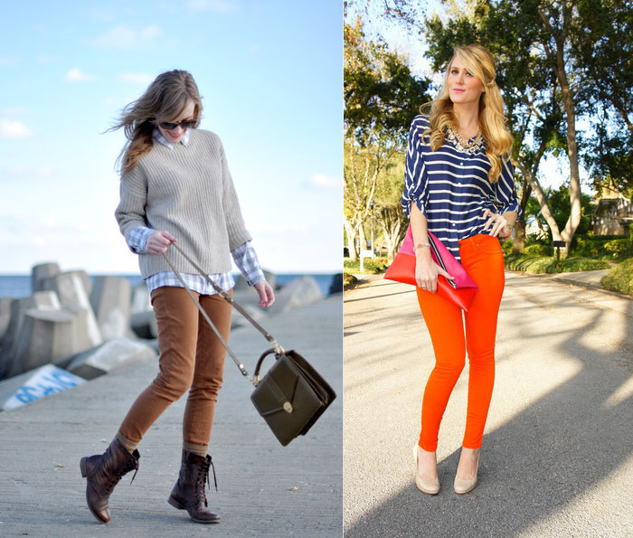 Orange Denim for Thanksgiving - Eat Sleep Wear and Bell de Couture
