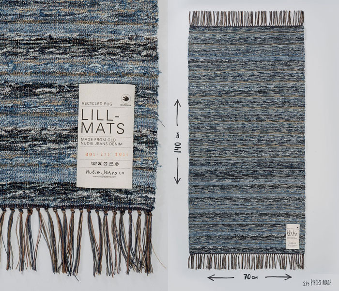 Nudie Jeans turns Recycled Jeans Into Furniture and Rugs - Lill Matt