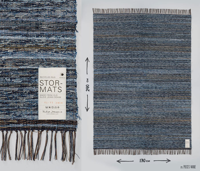 Nudie Jeans turns Recycled Jeans Into Furniture and Rugs - Stor-Mats