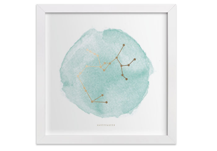 Zodiac Paintings by Annie Clark at Minted - Sagittarius