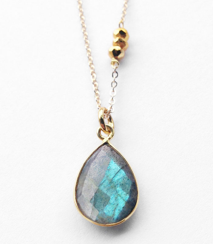 Rustic Gemstone Jewelry from Midwinter Co - Labradorite Necklace