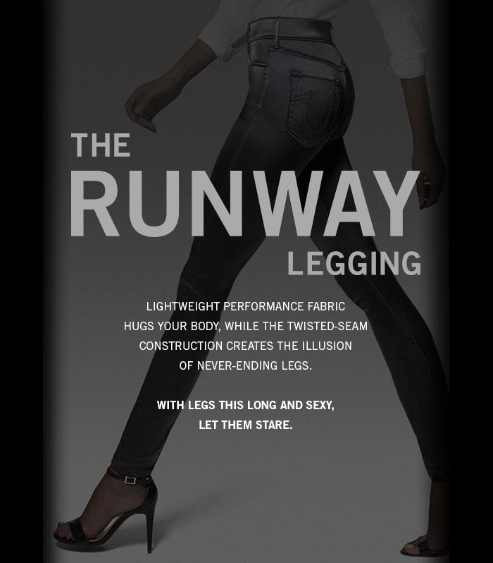 Denim vs the Activewear Industry Editorial on Denimology - True Religion Runway Legging