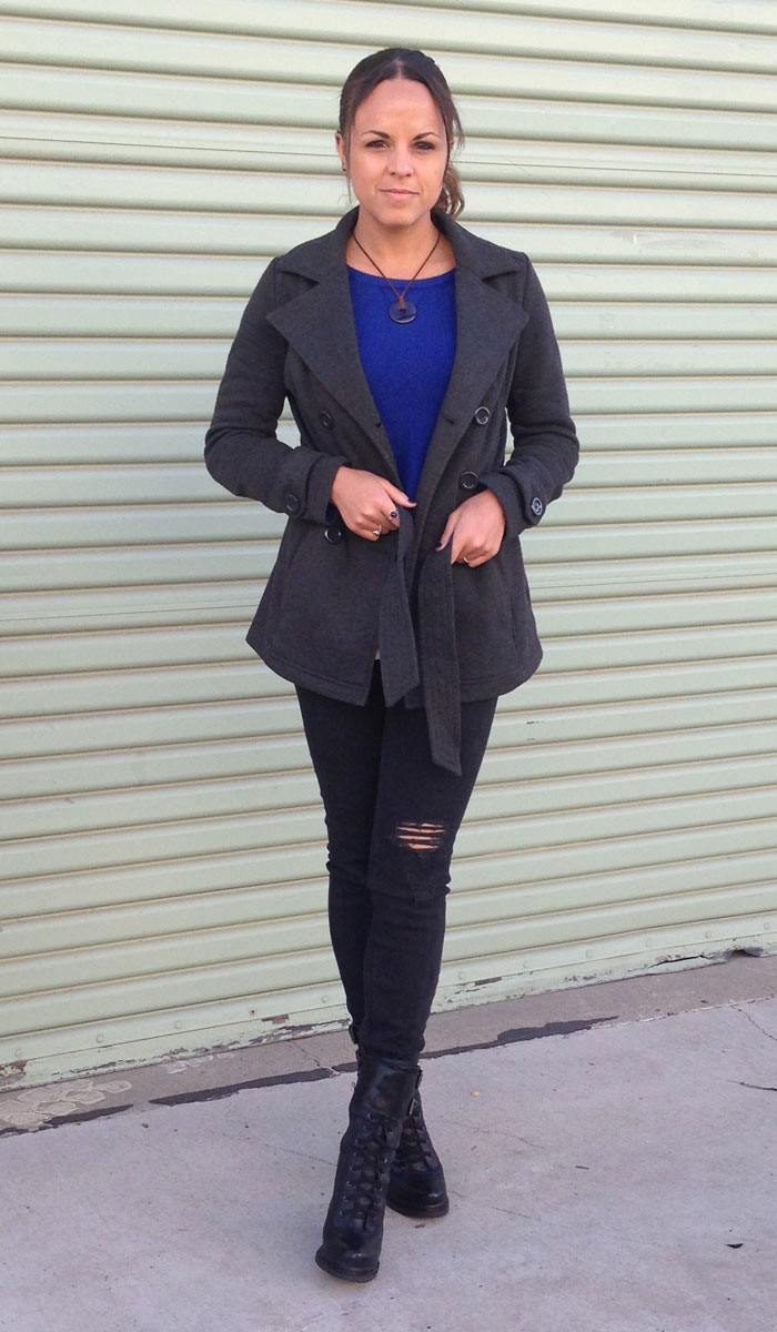 Black and Blue and Booties Too - Front Jacket View