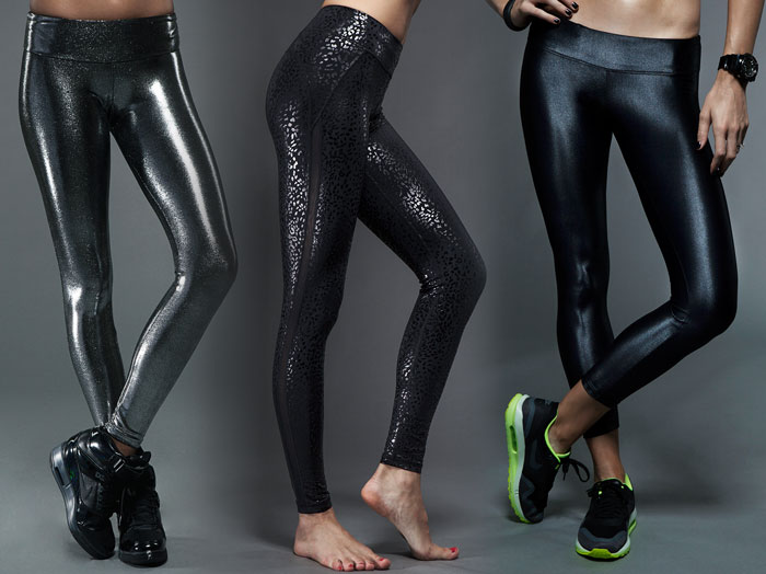 Printed Leggings by Carbon38 - Liquid Onyx