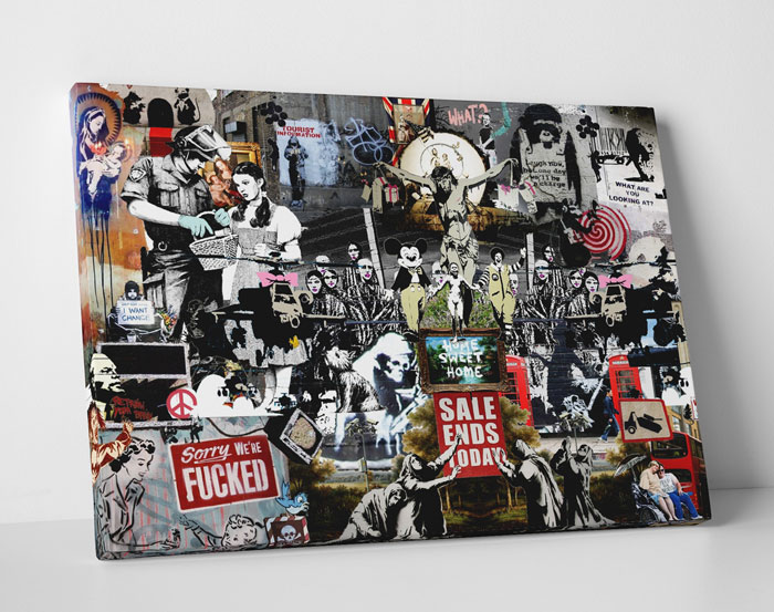 Banksy Art at Touch Of Modern - Banksy Collage