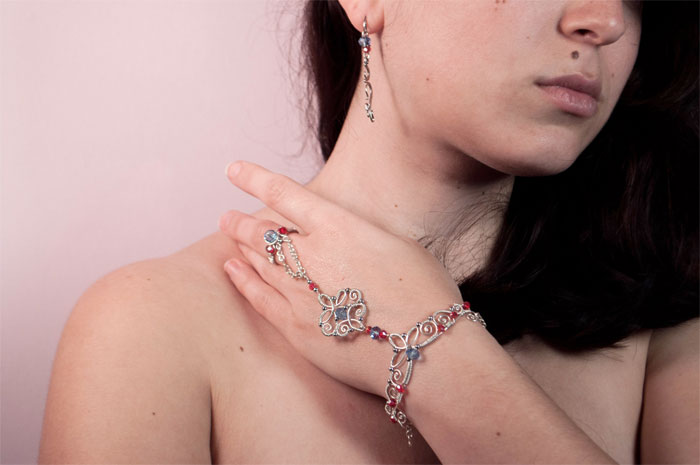 Recycled Scrap Metal Adornments by Calisto Jewelry - Eastern Promises Bracelet