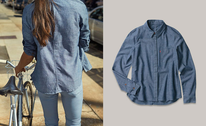 Levi's Commuter Apparel and Schwinn Giveaway - Women's Commuter One Pocket Shirt