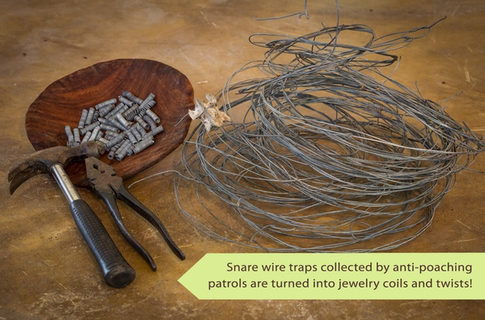 Snare Wire Jewelry for African Wildlife by Dsenyo - Snare Wire