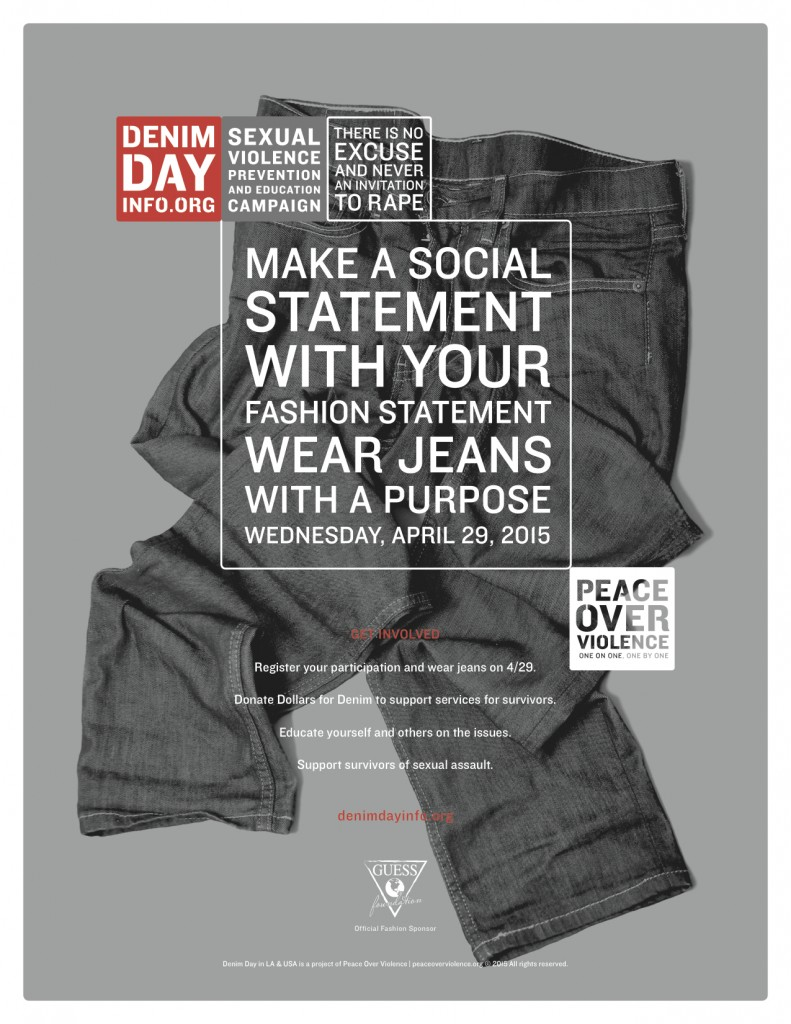 Today is Denim Day 2015 - Campaign Poster