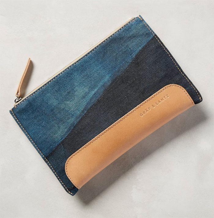 Italian Denim Bags by Graf & Lantz - Andie Pouch