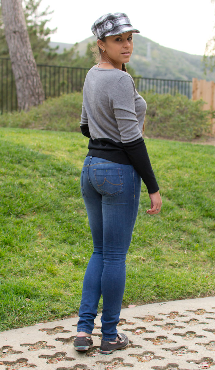 Paddled In Tight Jeans